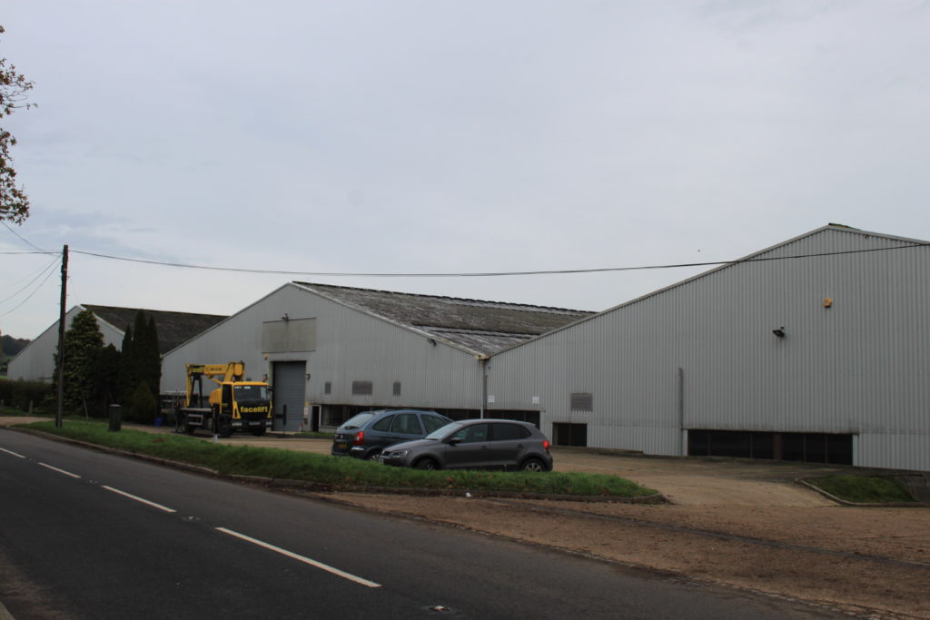 Industrial hanger in Redhill, Surrey.