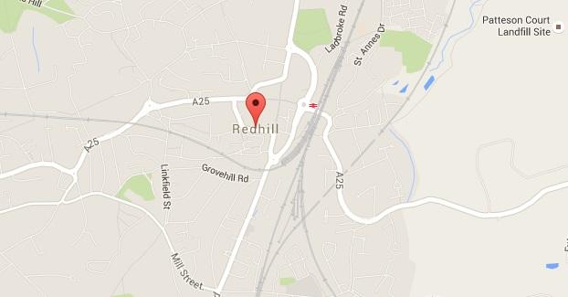 Redhill map